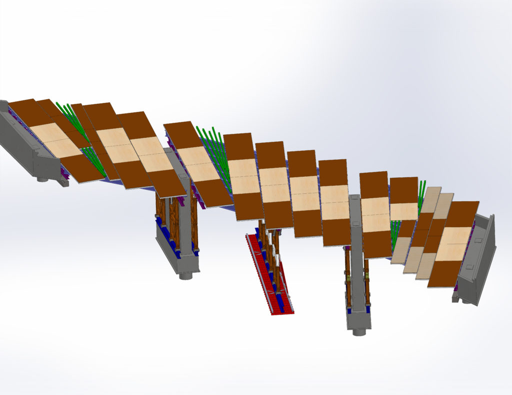 Etaiement multi-travée d'un pont route